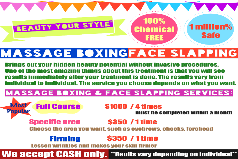 Tata Massage Face Slapping Natural, Massage Boxing, Natural Beauty, San Francisco, New Series World